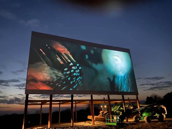 Tennessee Safari Park offers the experience of watching movies in a drive-in theater on the weekends in their parking lot.