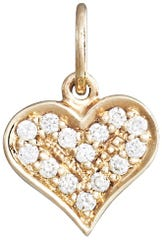 Helen Ficalora's Heart Mini Charm Pave Diamonds makes a perfect Mother's Day gift.