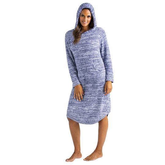 Moms will love the comfort of Softies' Marshmallow Hooded Lounger.