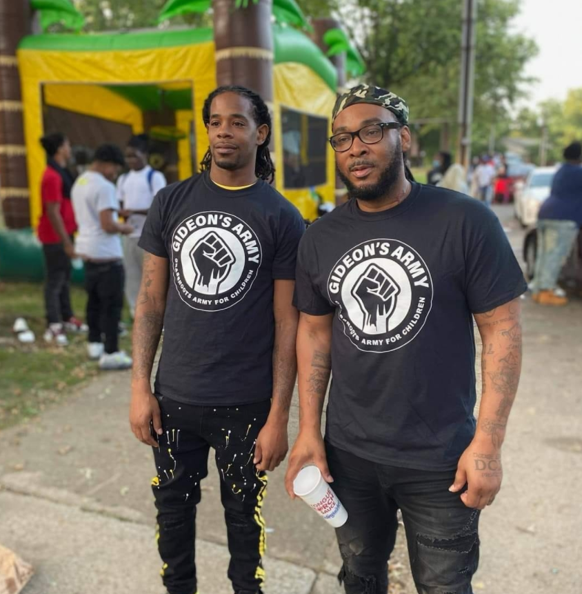 Gideon's Army members Cleveland Shaw Jr. (at left) and Hambino Godbody