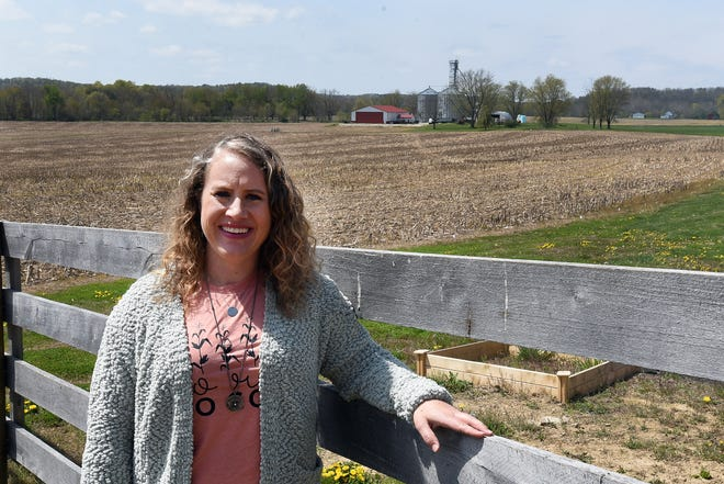 Abby Shipley named her boutique The Ginger Hill Farme after the family farm on Ginger Hill Road in Utica. The online boutique sells graphic tees and other items specifically geared toward farmers.