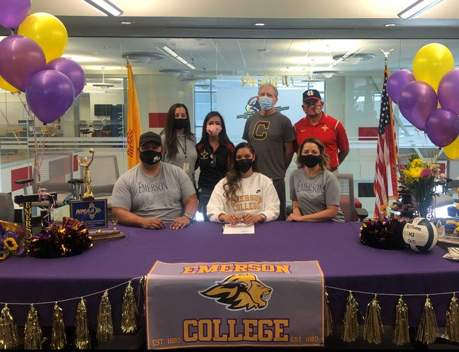 Centennial's Brooke Maynez signs her letter of intent to attend Emerson College.
