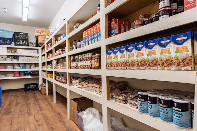 Penny's Pantry at The Joslyn Center provides fresh fruits and vegetables for a nutritious and balanced diet along with personal care items like toothpaste and toothbrushes.