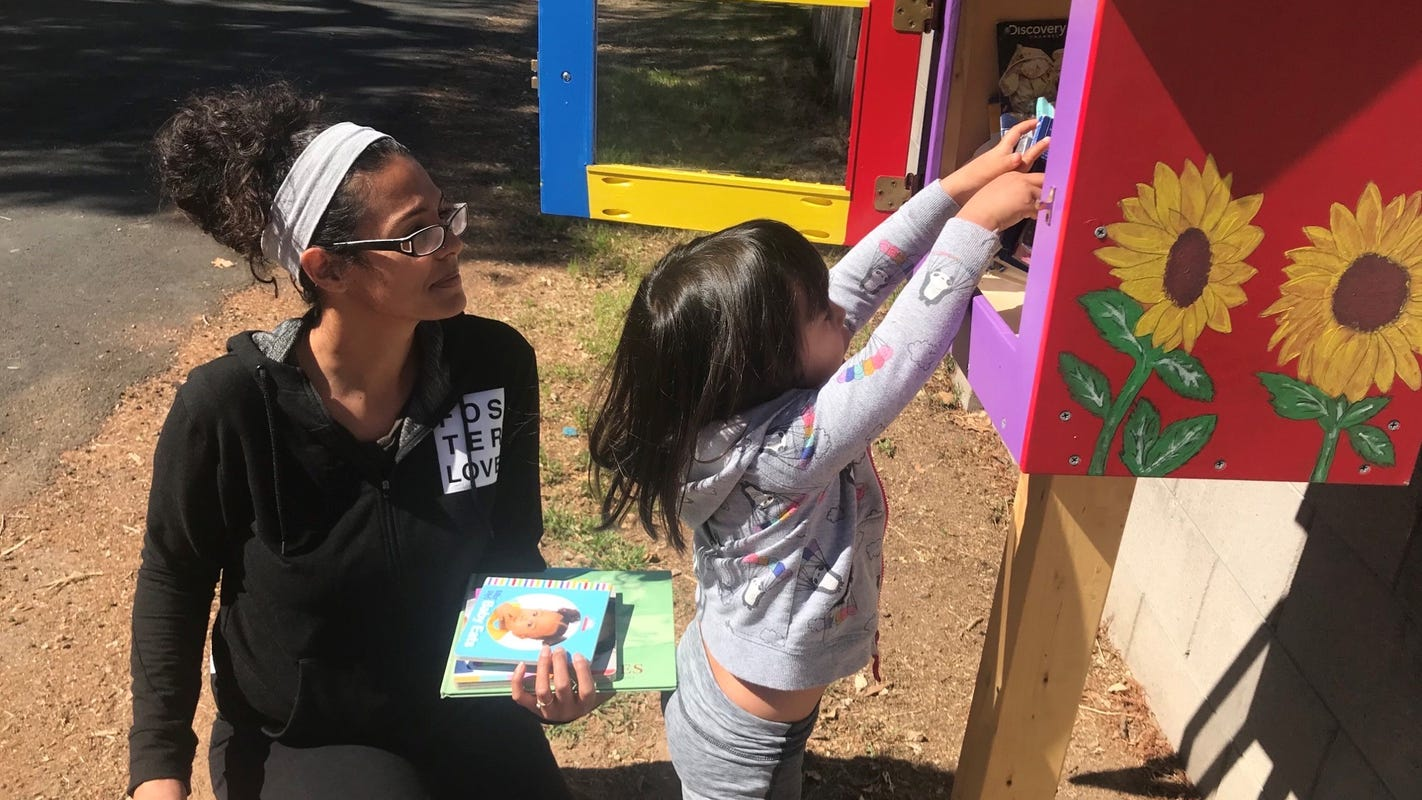 'Take a book, share a book': Little Free Libraries helps put books in the hands of kids