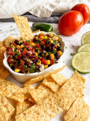 This amazing Black Bean and Corn Salsa has lots of fresh veggies combined with two canned veggies.