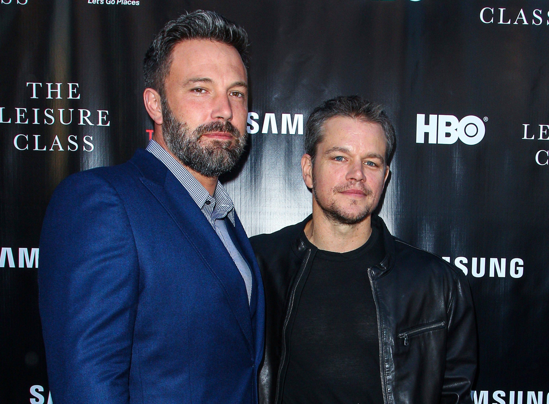 Ben Affleck, left, and Matt Damon together in 2015.