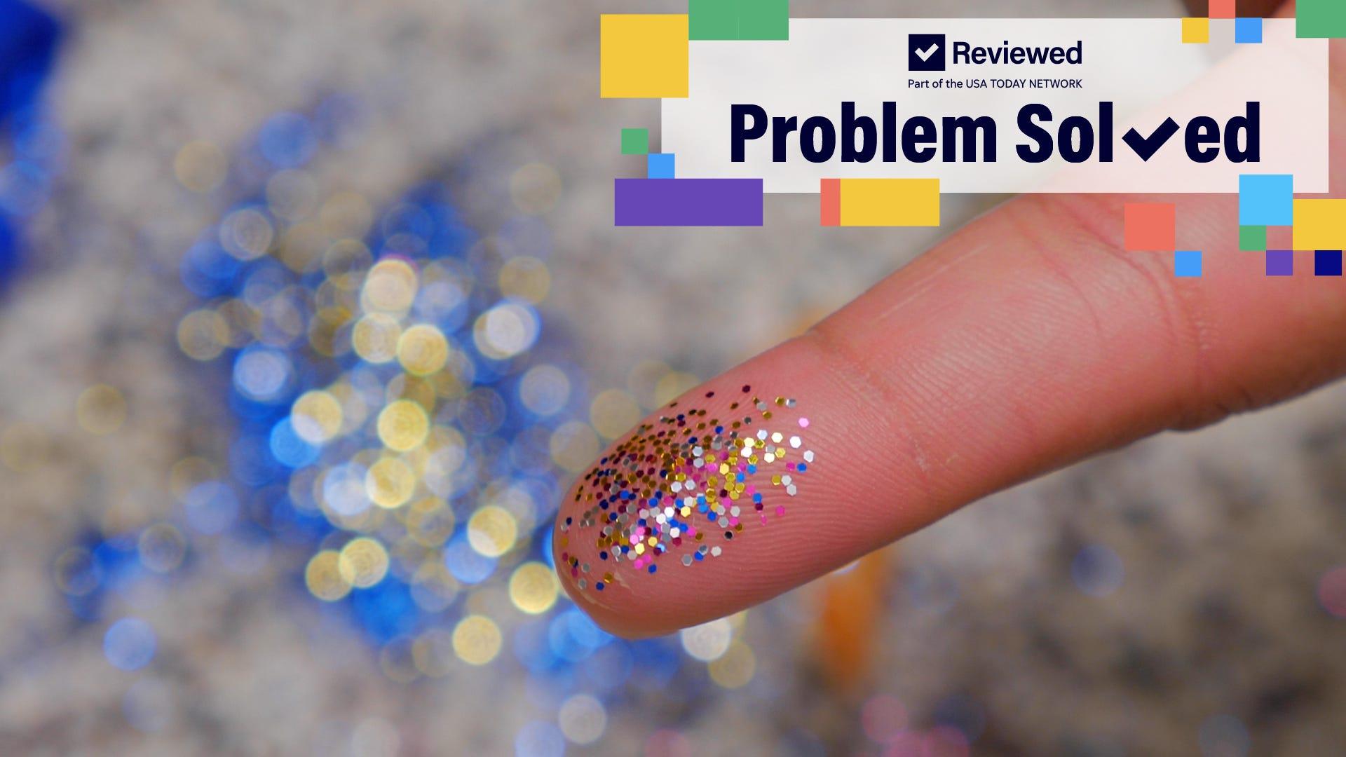 3 easy steps to clean glitter spills