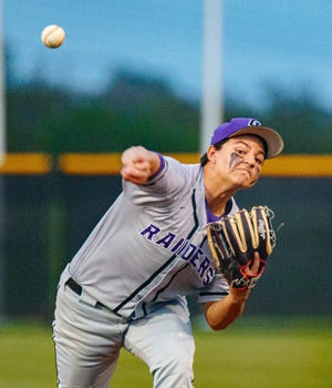 Cedar Ridge pitcher Danny Valadez, a Baylor pledge, threw his second consecutive complete-game shutout as the Raiders topped Westwood 3-0 in a District 25-6A baseball contest April 20 at Cedar Ridge High School.