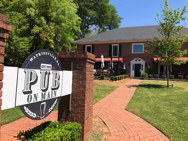 This photo taken on Wednesday, April 21, 2021 shows the Pub on Main located at 22 N. Main St. in Watkinsville, Ga.. The business announced via Facebook post that it will change ownership mid-May and become a Blind Pig Tavern.