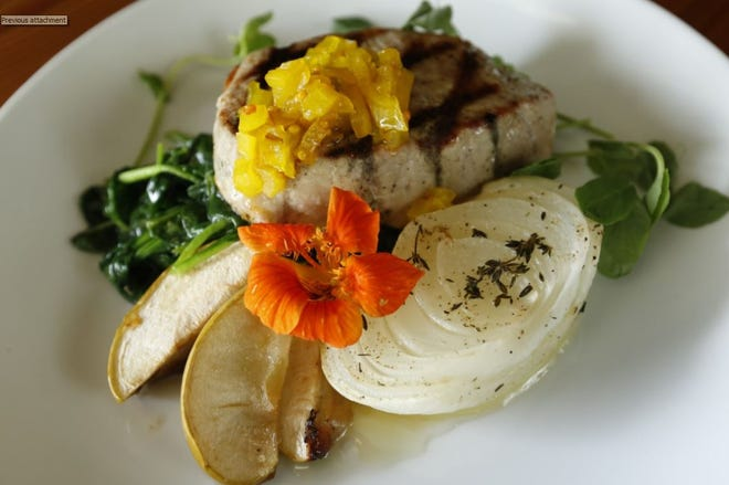 This dish featuring the Vidalia onion along with pork chop and Vidalia relish will be served at Heirloom in Athens.