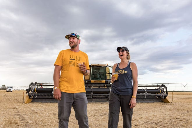 Todd and Emily Olander are craft beer enthusiasts who hit the pavement in 2016 to promote their farm's locally grown grain malt to brewers. After hiring a full-time salesman, Root Shoot Malting took off and now sells everything it can make, the equivalent of 20 tons of malt or 400 acres of grain annually.