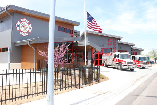 The Amarillo Fire Department celebrates the opening of Fire Station No. Five at 3200 South Washington Wednesday afternoon.