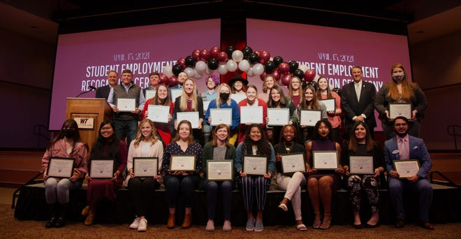 West Texas A&M University recently recognized 29 students as outstanding employees during Student Employment Week.
