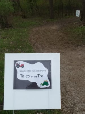 The beginning of New London Public Library's storybook trail with a new story at the New London Schools campus.