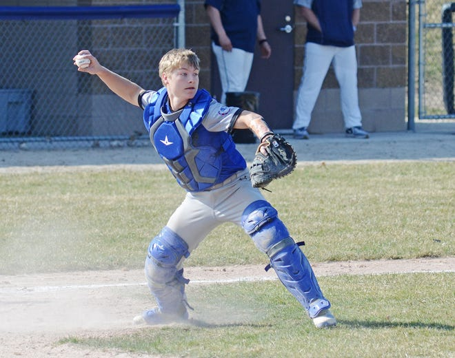 Senior catcher Cam Wallace is one of many key returning players for the Inland Lakes varsity baseball team. The Bulldogs won a district title and reached the regional final in 2019 under head coach Josh Vieau.