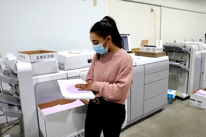 Alitzah Stinson, 24, is the owner of Ivory Paper Co. The firm, which makes customized planners, has frustrated many of its customers for delayed orders.
