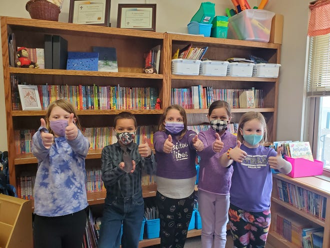 Pictured are Lily Olmstead, Teagan Stueber, McKinna Amiot, Ruby Larson, and Eliza DeBoer.