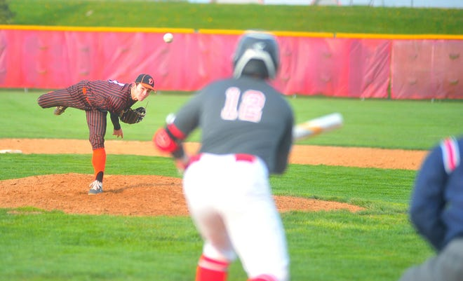 Dalton's Seth Manley deals during the Bulldogs' 4-2 win over Norwayne. Manley struck out seven in a complete-game win.
