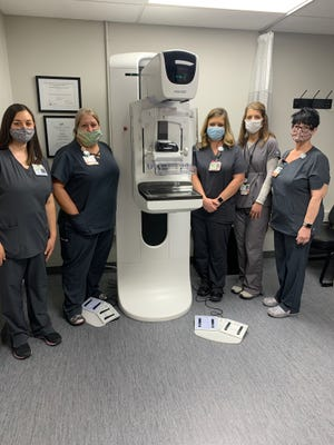 The staff at Pomerene Imaging Services Department can now provide three-dimensional mammography.