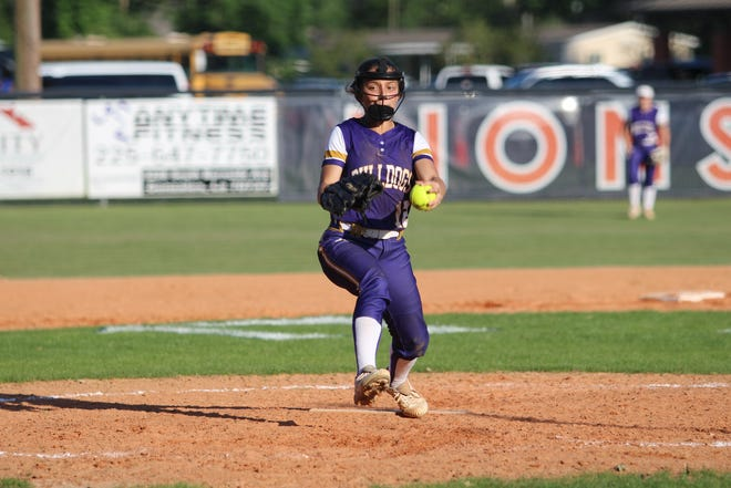 Lady Bulldog pitcher Sydney Viallon held the Lady Lions to just three hits and one run in deafeat.