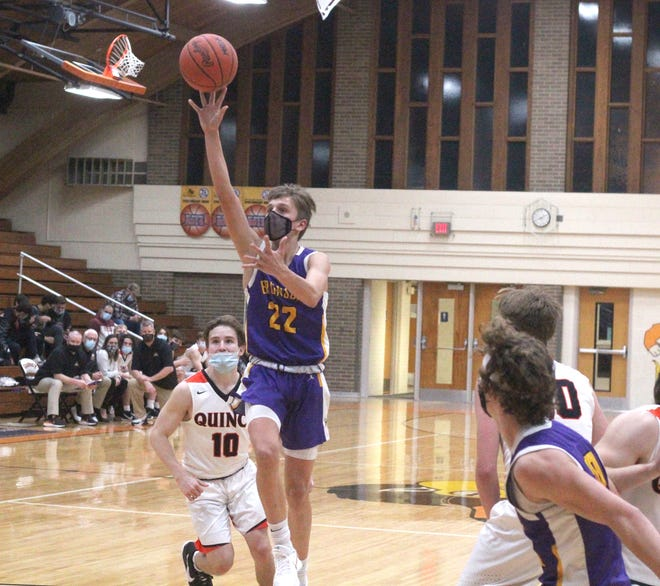 Bronson sophomore Aden Hathaway earned Big 8 All Conference First Team honors during the 2020-21 season.
