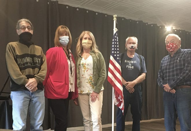 The Mohawk Valley Rotary Club is seeking donations for the Roger J. Skinner Memorial Dog Park in Herkimer. From left are Rocco Lamanna, Lisa Gollegly, Denise Snyder, Ed View and Bob DeCarlo.