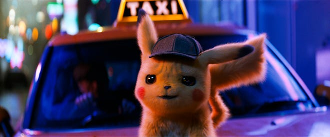 "The character Detective Pikachu, voiced by Ryan Reynolds, in a scene from ""Pokemon Detective Pikachu."" In 2019, ""Detective Pikachu,"" based on the Nintendo game, grossed more than $400 million worldwide."