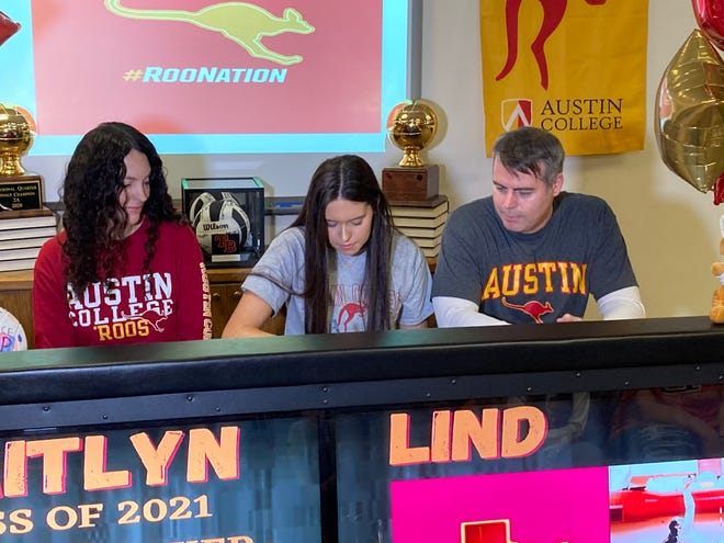 Tom Bean senior Kaitlyn Lind announced her decision to play volleyball for Austin College.