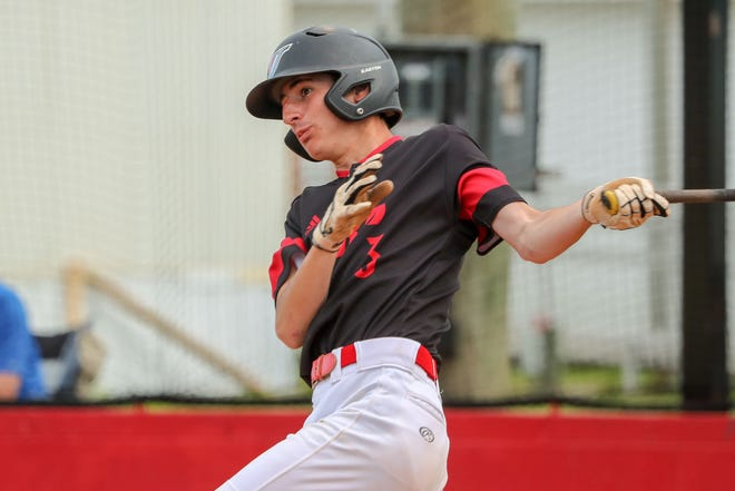 Jacksonville's Cooper Ferguson is one of the area's top returning high school baseball players. [Tina Brooks / The Daily News]