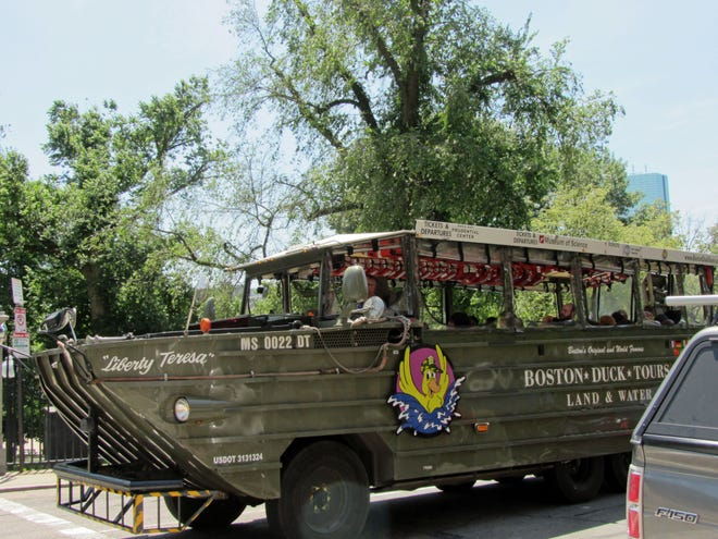Duck Boats are a fun way to explore the city.