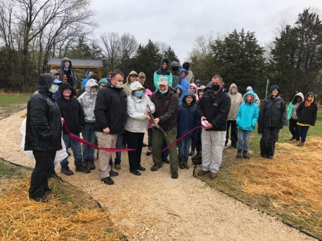 A ribbon cutting event was held at Lake of the Ozarks State Park, opening the new special use area.
