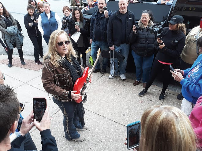 Singer Melissa Etheridge visits with fans in November 2019 during a visit to her hometown of Leavenworth. Etheridge will perform at the Camp Leavenworth festival in September.