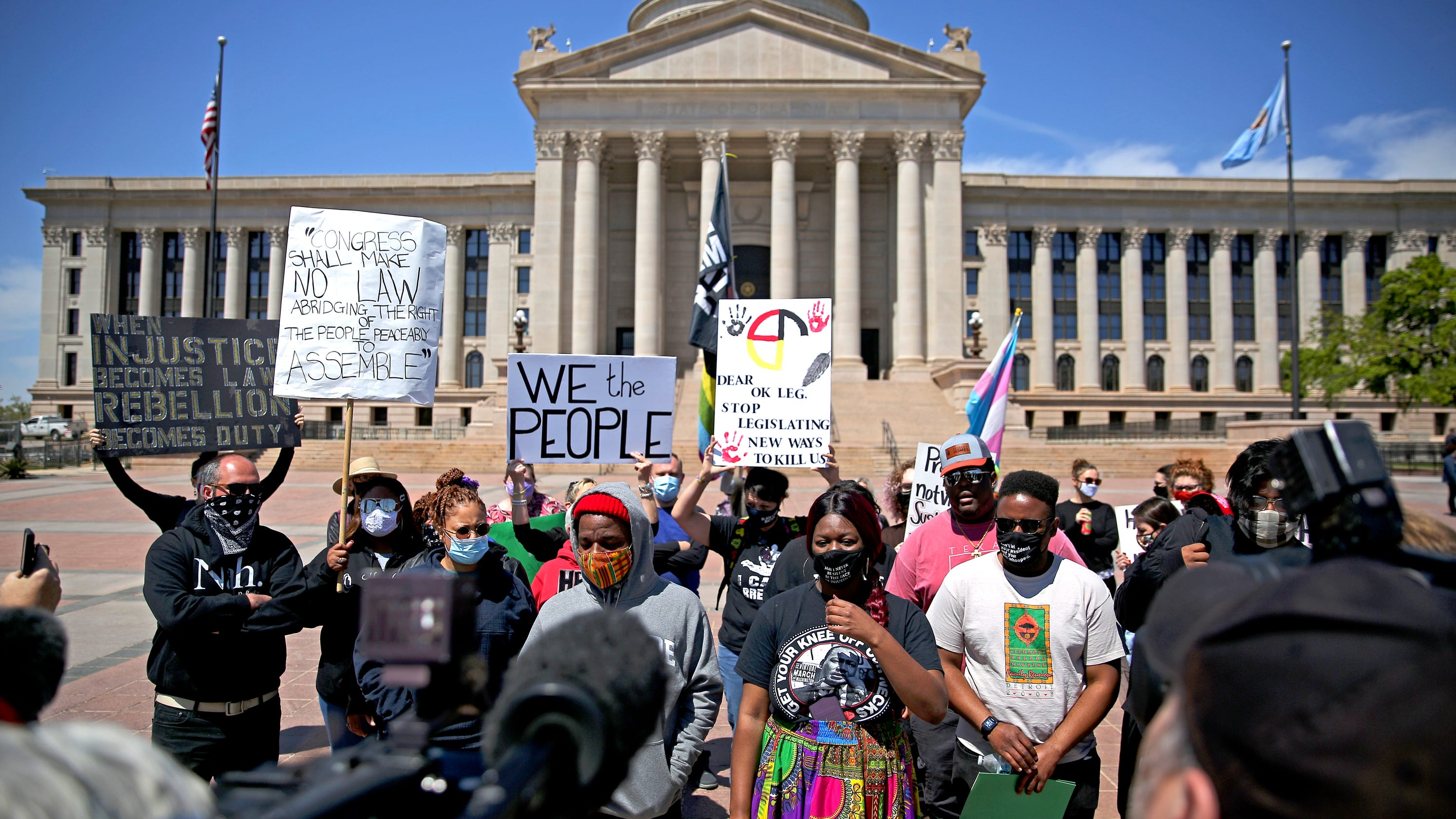 New Oklahoma law protects drivers 'fleeing from a riot' who hit protesters
