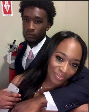 Antwan Williams and his mother, Naysha Clark, in a 2019 photo.