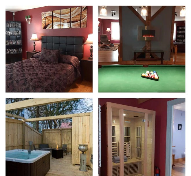 This studio in Milford is the perfect getaway for couples looking to rent an Airbnb in the Poconos.