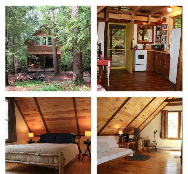 This Dingmans Ferry cabin sleeps three and is nearby to the Delaware Water Gap National Recreational Area.