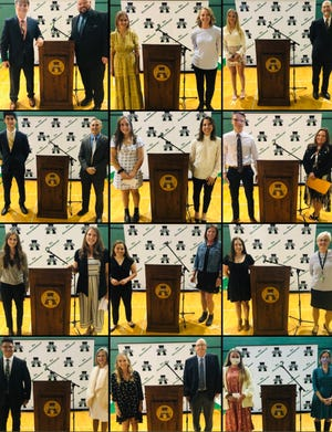 From left to right, pictured is Aden Ricketts and Victor Ricketts; Ila Kerchenski and Toni Taylor; Kalynn Radsanowski and Josh Rakow; Sam LoGalbo and Brian Wervey; Emmy Fellenstein and Gina Voinovich; Keaton Thieding and Chris Miley; Ashleigh Stern and Jenna Schadle; Kennedy Nietert and Erika Greenberg; Ryleigh Jones and Monika Biro; Ryan Stahl and LaQuita Timberlake; Quincy Bizjak and David Munson; and Paige Haley and Stephanie Duncan