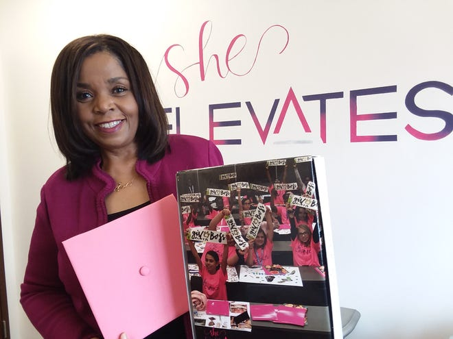 DeLores Pressley of Canton is the founder of the She Elevates Academy, an outreach that offers girls 8 to 14 programming in entrepreneurship, confidence, leadership, and organizational skills. Pressley is a professional speaker and a retired Canton City Schools teacher.