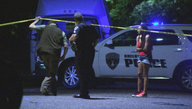 Police responded to a call that a baby was shot in Shelby Tuesday night, April 20, 2021.