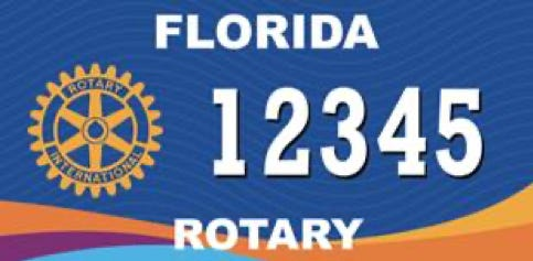 A sample of the new Florida Rotary license plate.