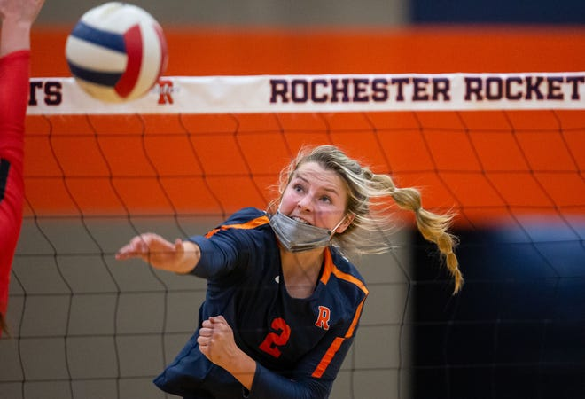 Rochester High School's Grace Petty is The State Journal-Register's Large School Volleyball Player of the Year. [JUSTIN L. FOWLER/THE STATE JOURNAL-REGISTER]