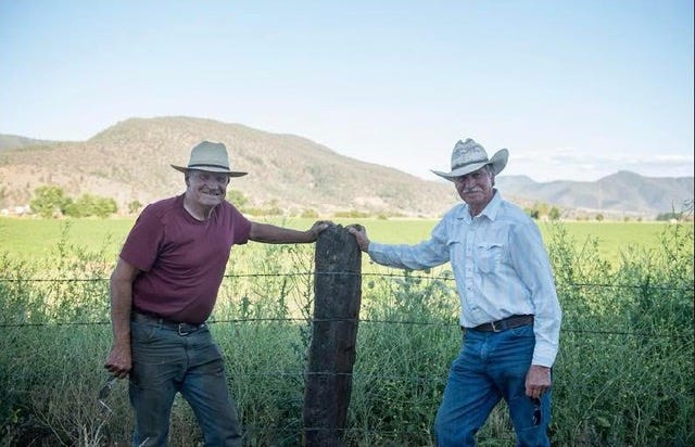 Doug and John Jenner on their ranch in Scott Valley. The brothers will serve as grand marshals in the May 2, 2021 Etna Rodeo Parade.