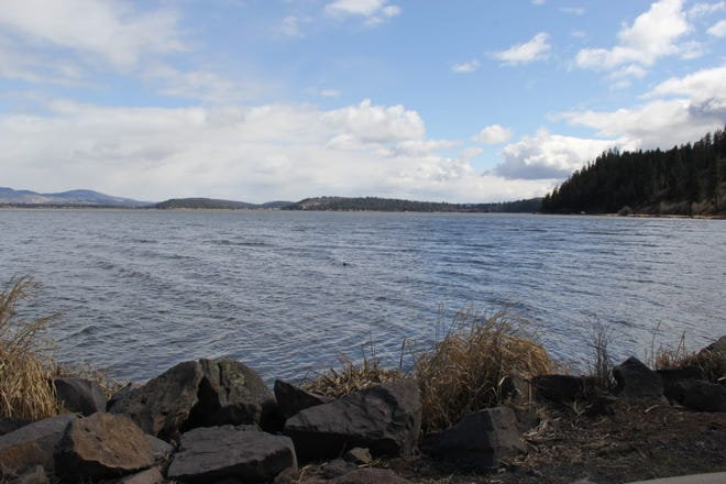 Upper Klamath Lake is nearly to the brim. Photo taken March 25, 2021 by Jacqui Krizo.