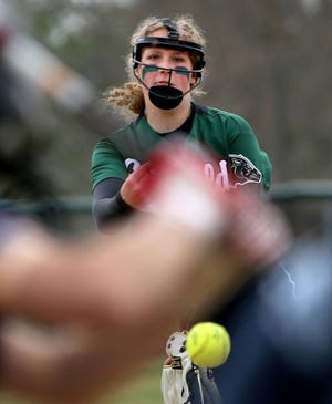 Griswold junior pitcher Kaelin Waldron tossed consecutive perfect games against Plainfield and Wheeler this week.