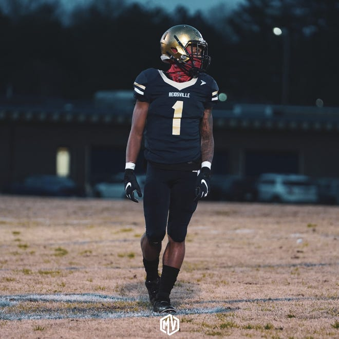 N.C. State basketball commit Breon Pass (1) has helped Reidsville's football team go 7-0 so far this spring.