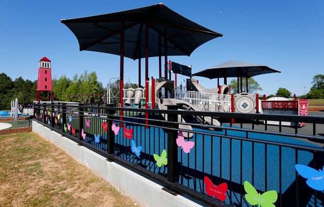 The All Inclusive Playground at Sokol Park opened and was christened Mason's Place Wednesday, April 21, 2021, in Tuscaloosa. [Staff Photo/Gary Cosby Jr.]