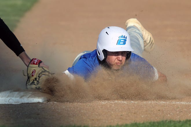"""Carter Hanson and Bradley have been attempting to boost the team's production at the plate. """"We started slow, but now we're getting runners on and not leaving as many on base,"""" coach Xander Uxley said."""