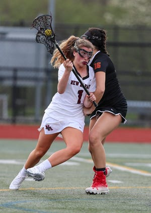 Mary Carson has been one of the top scorers for New Albany, which won six of its first eight games. The Eagles were ranked seventh in the state and fourth in the area by LaxRankings.com as of April 20.
