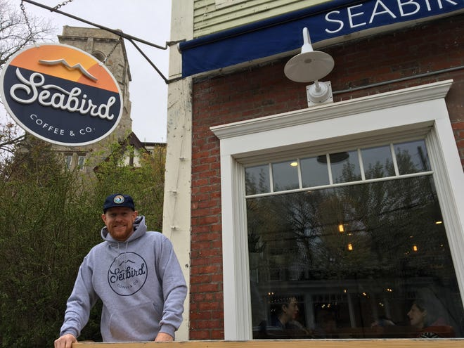 """Brian McLaughlin, owner of Seabird Coffee, has residents excited with his """"Donut Fridays"""" promotion."""