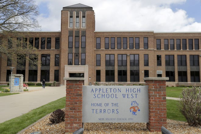 Appleton West High School, photographed Wednesday, as well as East and North high school students will add 240 minutes of in-person instruction per week through the remainder of the school year.